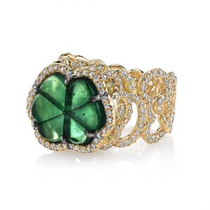 Trapiche Emerald Cloud Ring